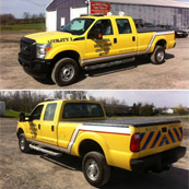 2014 Ford F250 | Utility Truck 4x4 crew cab w/ gas engine | Equipped/painted by Northern Fire Equipment | Scriba VFD